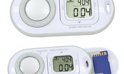 EST009 Digital World Time Clock