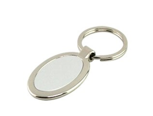 HKY1006 Metal Keychain In Oval Shape