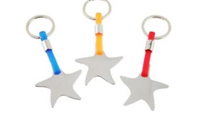 HKY1009 Sea Star Metal Keychain
