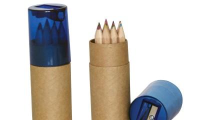 JCL0601 12psc Mini Coloured Pencil W Sharpener