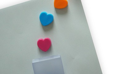 JCL1001 4pcs Heart Clips in PP Box