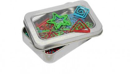 JCL1002 Assorted Shapely Clip In Tin Box