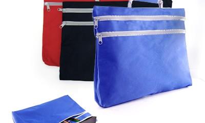 TDB039 Double Zipper Folder Bag