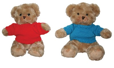 TEDDY2 9″ Soft Toy Bear With Knitted Wear